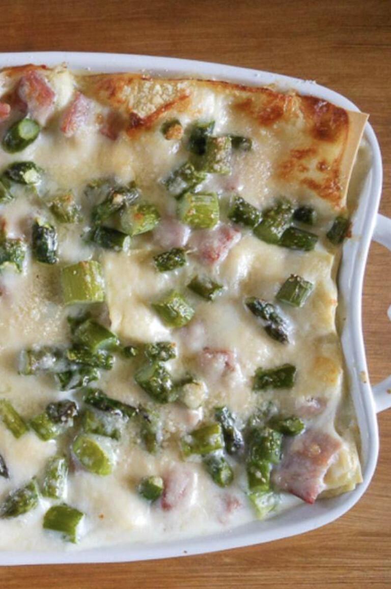 Asparagus – Ham Lasagne