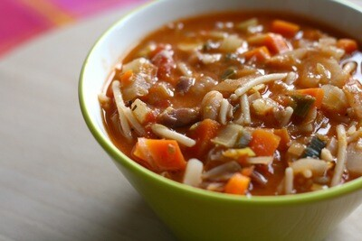 Minestrone – mixed Italian vegetable soup