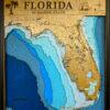 Florida State Laser-Cut Nautical Map