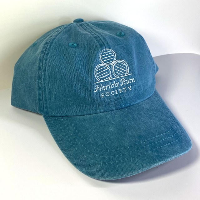 Florida Rum Society Hat - Teal w/ White Logo