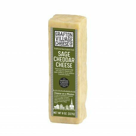 Grafton Village SAGE Raw Cheddar Cheese 8oz.