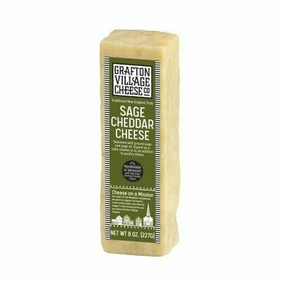 Grafton Village SAGE Raw Cheddar Cheese 8oz.