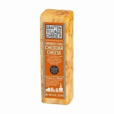 Grafton Village SMOKED CHILI Cheddar Cheese 8oz.