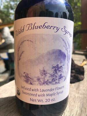 Benson Place Wild Blueberry Syrup (with lavender and maple syrup) 20 oz.