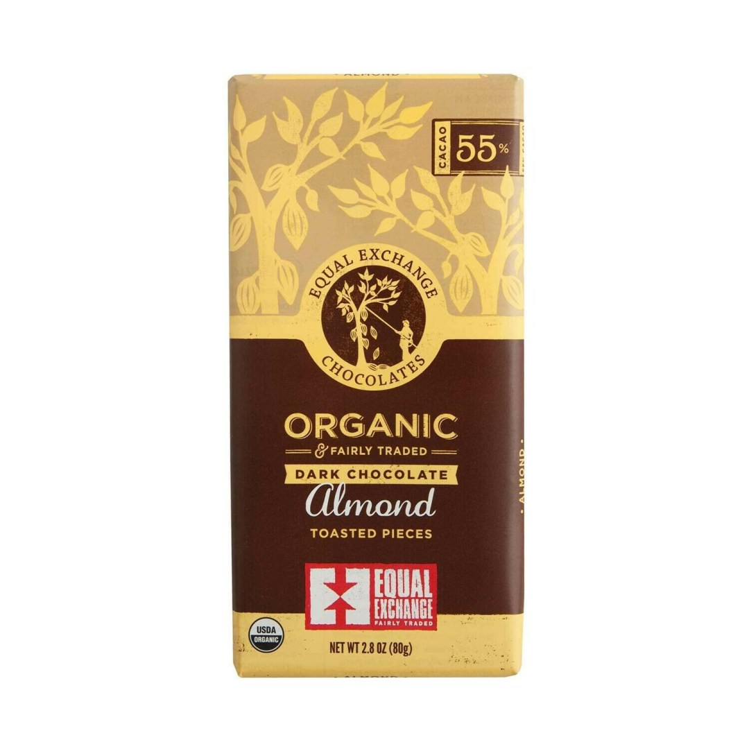 Equal Exchange Chocolate Bar - Dark Chocolate & Almond