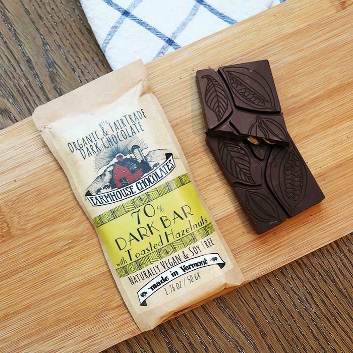 Farmhouse 70% Dark Chocolate with Toasted Hazelnuts Chocolate Bar