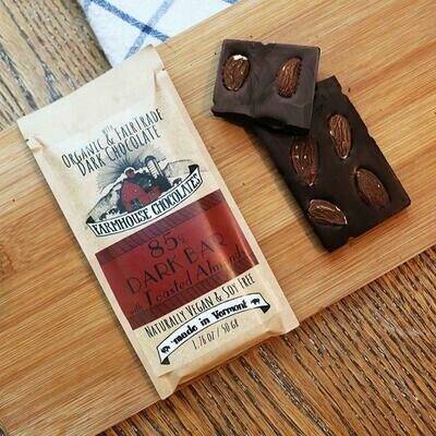 Farmhouse 85% Dark Chocolate with Toasted Almonds Chocolate Bar