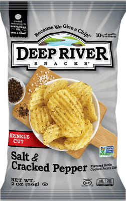 Deep River Potato Chips 5 oz. - Salt and Cracked Pepper