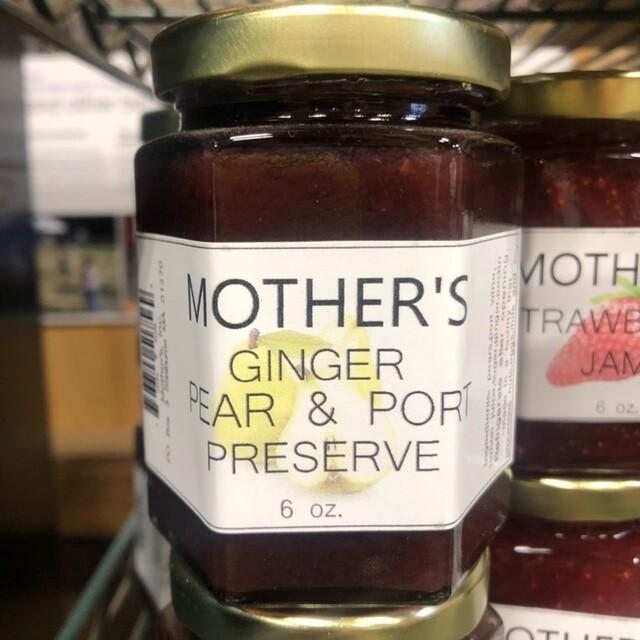 Mother's Ginger Pear Port Preserves