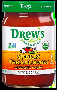 Drew's Organic Salsa - Medium