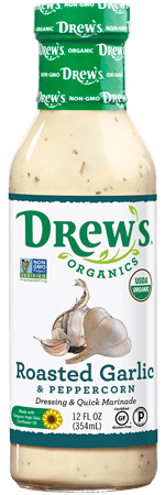 Drew's Organic Dressing - Roasted Garlic and Peppercorn