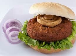 AKARA African Sauteed Onion Falafel Burger