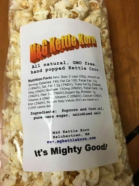 M & G Kettle Korn Popcorn 8oz. - LARGE