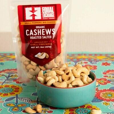 Equal Exchange Roasted Salted Cashews 8 oz.