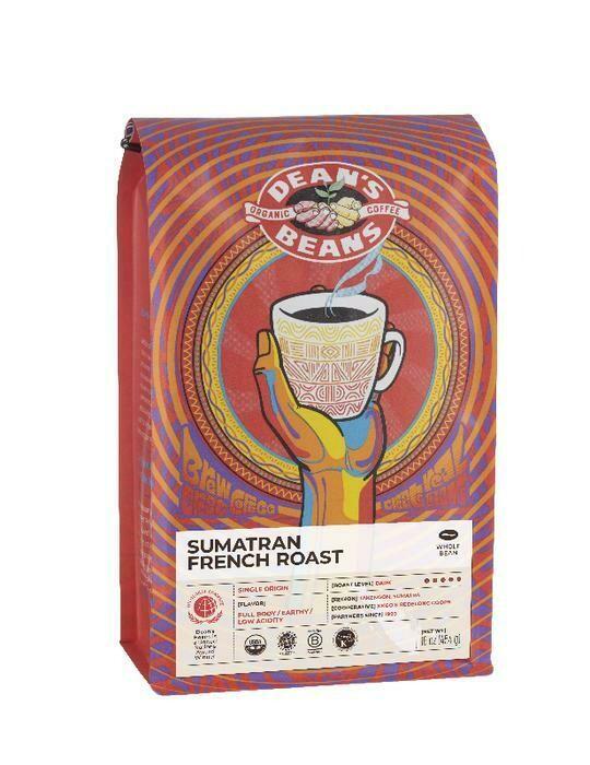 Dean's Beans SUMATRAN FRENCH Roast (Dark, Whole Bean) Coffee