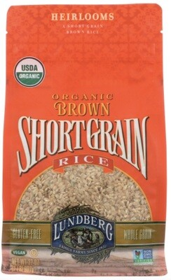 Lundberg Organic Short Brown California Rice (2 lb. bag)