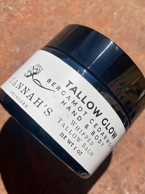 Hannah's Skincare Bergamot Cedarwood Tallow Glow 1 oz.