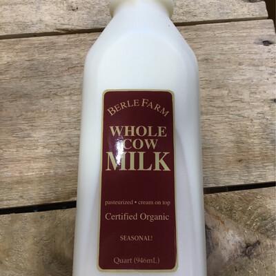 Berle Farm Whole Milk Qt.