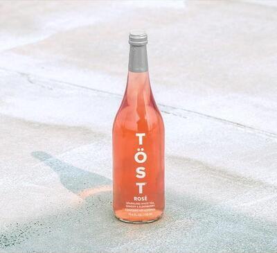 Tost Sparkling White Tea Rosé 25.4oz
