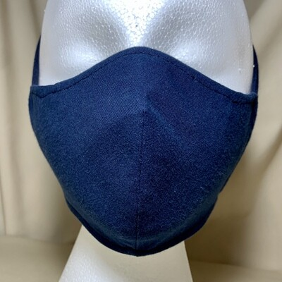 Navy Blue Face Covering - Small - Non-Medical