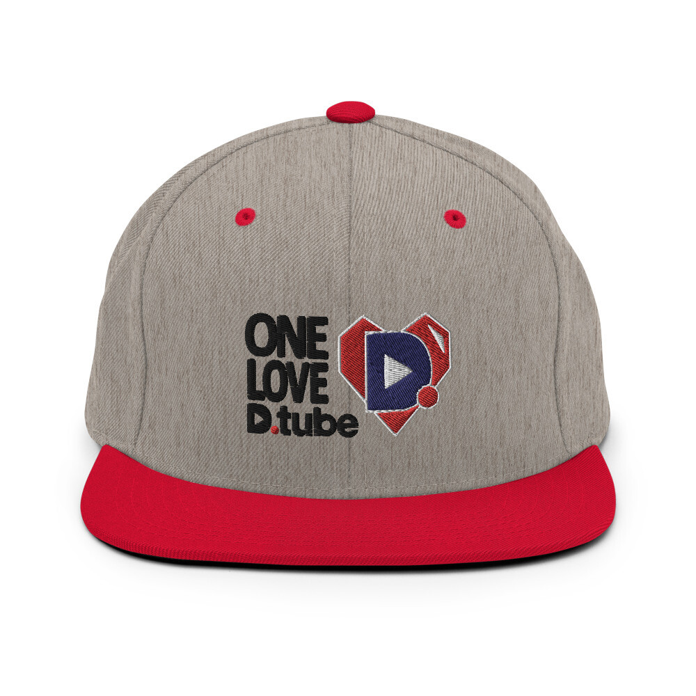 One Love D.Tube Black Embroidered Snapback Hat