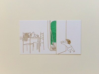 When Sadness Comes to Call / Hiding - Small Risograph Print