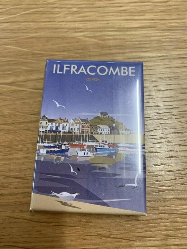 Ilfracombe print fridge magnet