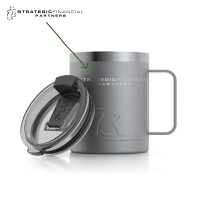 Branded 12oz RTIC Coffee Mug - Graphite