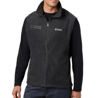 Branded Columbia Fleece Vest - Charcoal