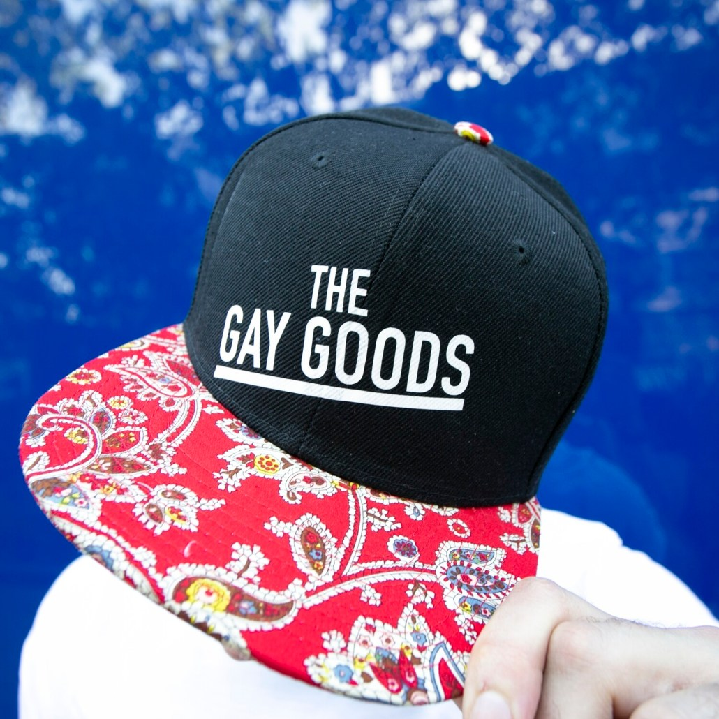 The Gay Goods Red Paisley Snapback Hat