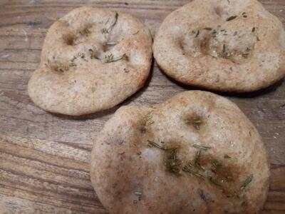 3 Focaccine di grano tenero semi integrale