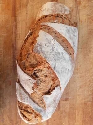 Pane semi integrale di grano tenero