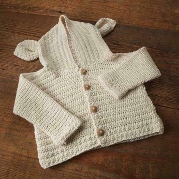 Cardigan Lamb's Ear Crochet Kit