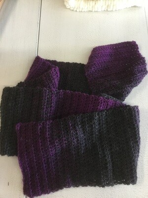 Purple and gray scarf