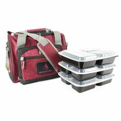 Burgundy Motivational Meal Prep Bag®