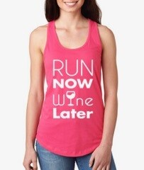 Motivational Tank Top® Run/Wine (XS)