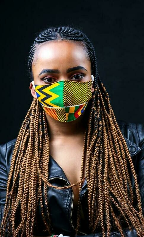 4 Pack Ankara Fabric mask :: donation pack