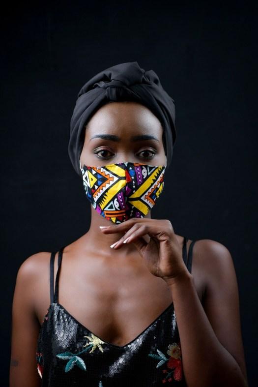 4 Pack Tribal Ladies Ankara Mask :: donation pack