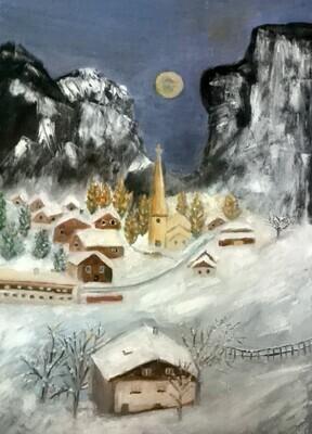 Montagne suisse en hiver