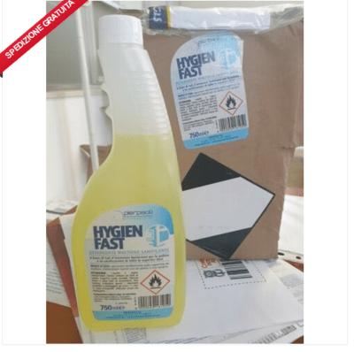 EB Hygien Fast - Igienizzante Sanificante, 6pz - Spray da 750ml