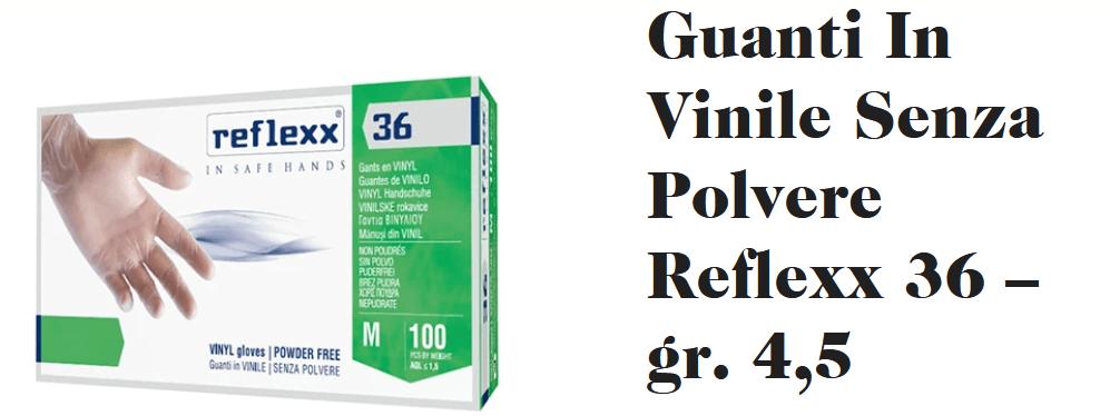 Reflexx 36 Guanti In Vinile tg. M Senza Polvere
