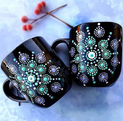 Ceramic Mug - Black and Green