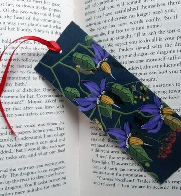 Bookmark - Illustrated Art - Deadly Nightshade