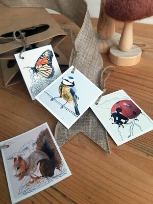 Gift Tags - Wildlife (Set of Four)