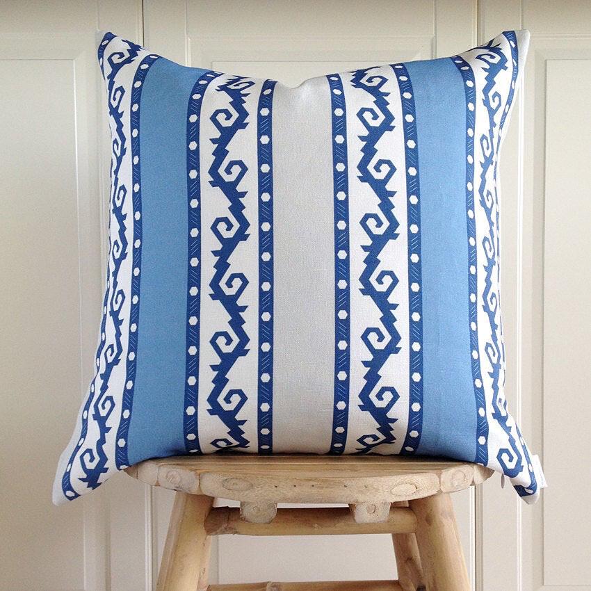 KISMET SAPPHIRE - Decorative Pillow Cover (half linen)