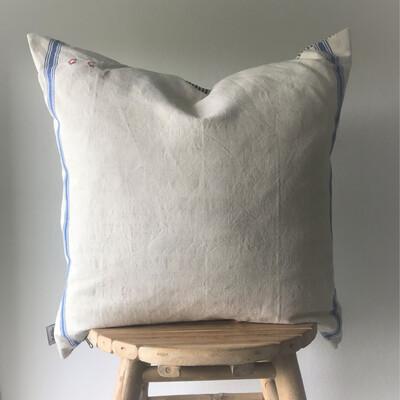Vintage French Linen Pillow Case - Côte d'Azur
