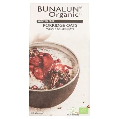 Bunalun Organic Gluten Free Porridge Oats 500g