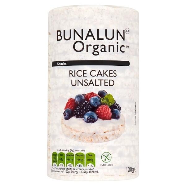 Bunalun Organic Rice Cakes Unsalted 100g