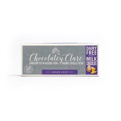Chocolatey Clare Vegan Chocolate Ginger Crisp 40g