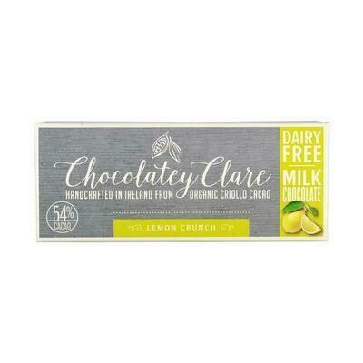 Chocolatey Clare Vegan Chocolate Lemon Crunch 40g